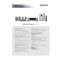 Denon DHT-1356XP Home Cinema System
