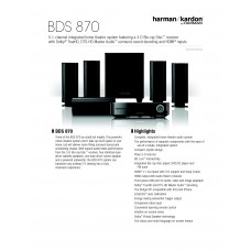 Harman Kardon BDS 870 Home Cinema System
