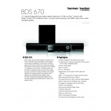 Harman Kardon BDS 670 Home Cinema System