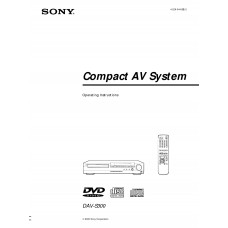 Sony DAV-S300 Home Cinema System