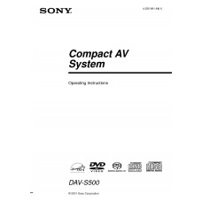 Sony DAV-S500 Home Cinema System