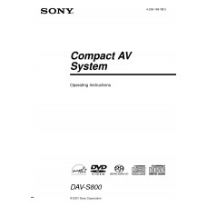 Sony DAV-S800 Home Cinema System