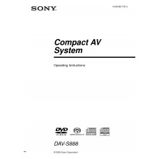Sony DAV-S888 Home Cinema System