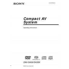 Sony DAV-SA30 Home Cinema System