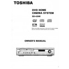Toshiba SD-43HK Home Cinema System