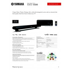 Yamaha YHT-S400 Home Cinema System
